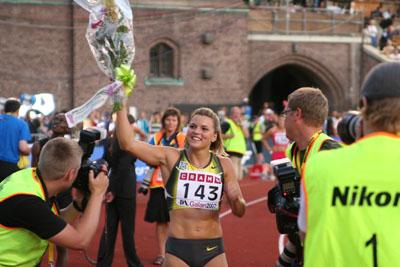 Susanna Kallur besegrade för första gången Michelle Perry