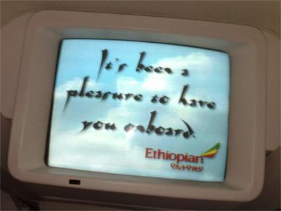 Ethiopian Airlines, förmodligen världens sämsta flygbolag
