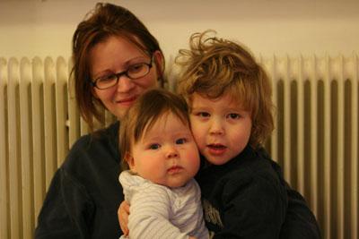 Den Engströmska familjen utom pappa Patrik