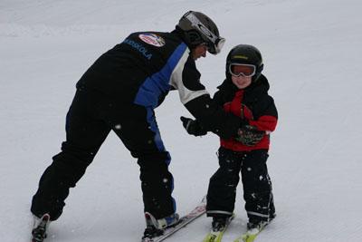 Det går lättare med en skidlärare