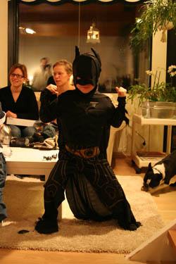 Elias gillar osså Batman. Det kanske syns?